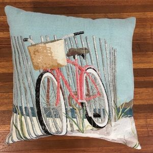 Beach Bicycle Accent Pillow